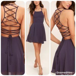 Lulu's Strappy Back Fit & Flare Dress